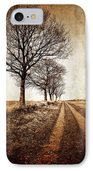 Rural Scenes iPhone 8 Case - Winter Track With Trees by Meirion Matthias