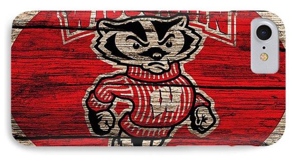 Wisconsin Badgers Barn Door IPhone Case