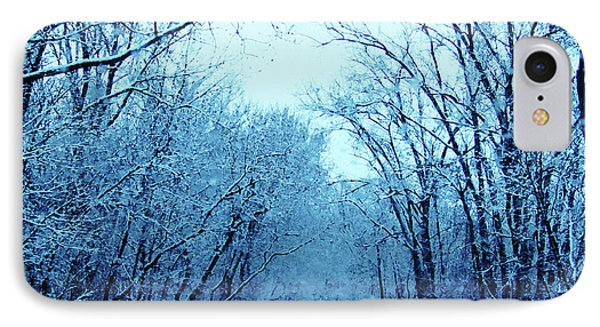 Wisconsin Frosty Road In Winter Ice IPhone Case