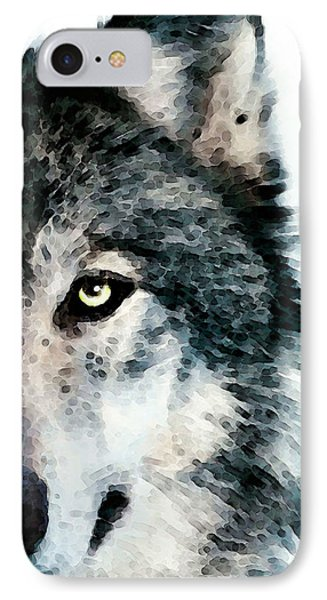 Wolf Art - Timber IPhone Case