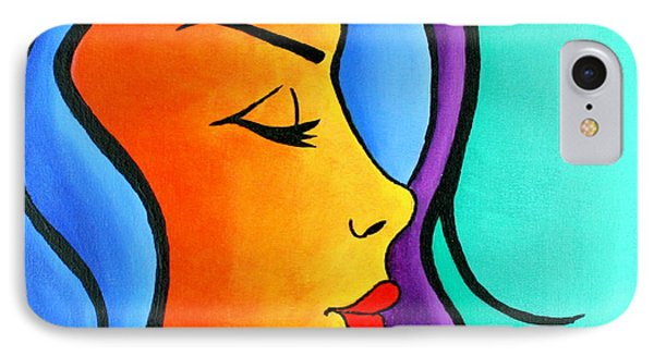 Woman Of Color, Eyes Closed IPhone Case