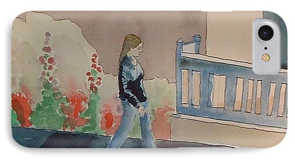 Woman Walking Down Nusbaum Street IPhone Case