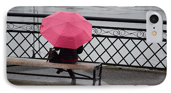 Woman With Pink Umbrella. IPhone Case