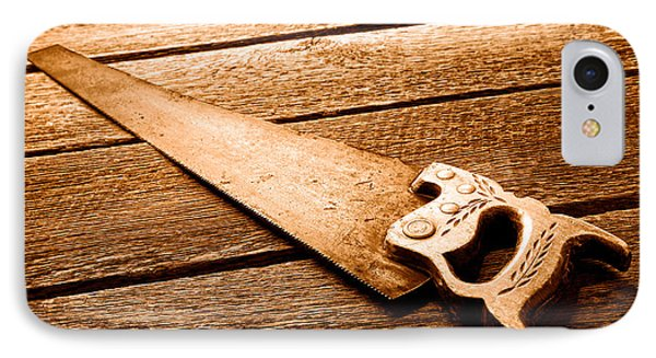 Wood Saw - Sepia IPhone Case