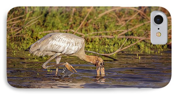 IPhone Case featuring the photograph Wood Stork by Peter Lakomy