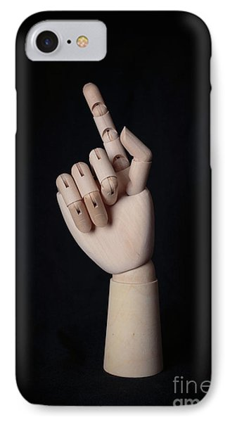 Wooden Artist Hand Model Finger IPhone Case