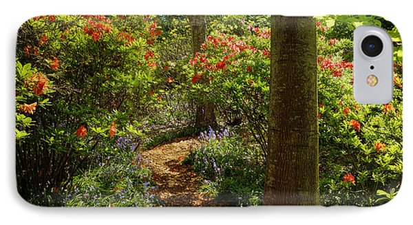Woodland Path With Rhododendrons IPhone Case