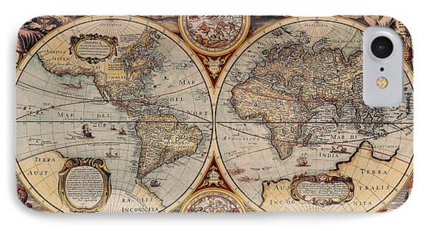 World Map 1636 IPhone Case