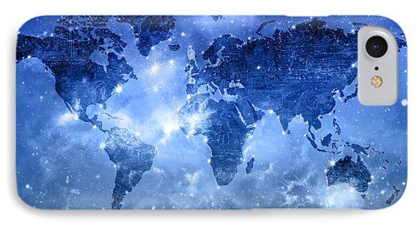 World Map Galaxy 9 IPhone Case