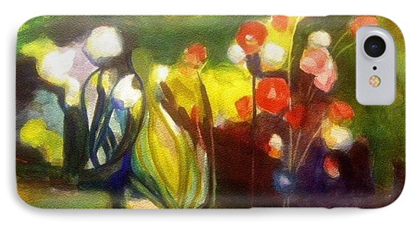 Warm Flowers In A Cool Garden IPhone Case