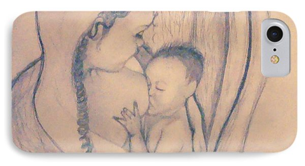 Wrapped Within The Angel Wings Of Momma IPhone Case