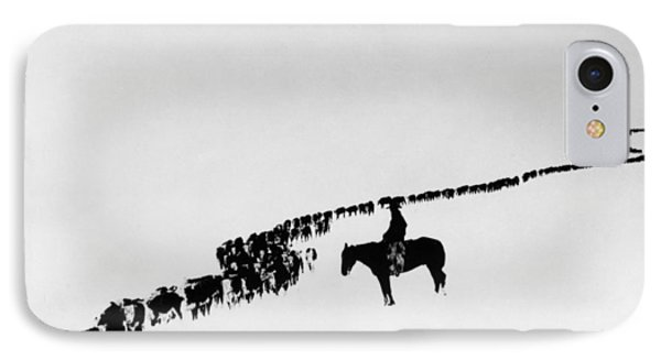 Horse iPhone 8 Case - Wyoming: Cattle, C1920 by Granger