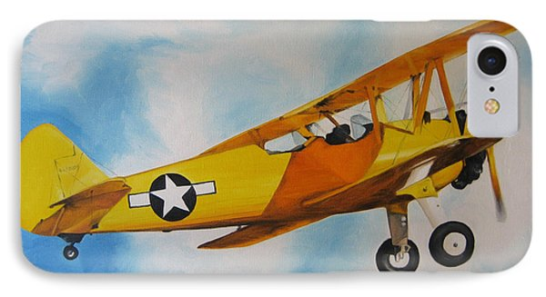 Yellow Airplane - Detail IPhone Case