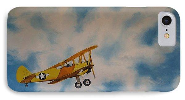 Yellow Airplane IPhone Case