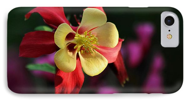 Yellow And Red Columbine IPhone Case