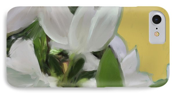 Yellow And White Flower Art 1  IPhone Case