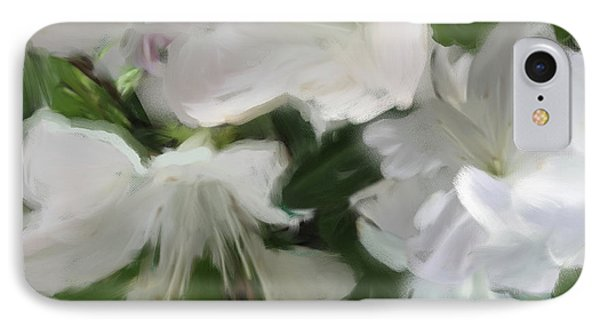 Yellow And White Flower Art 2 IPhone Case