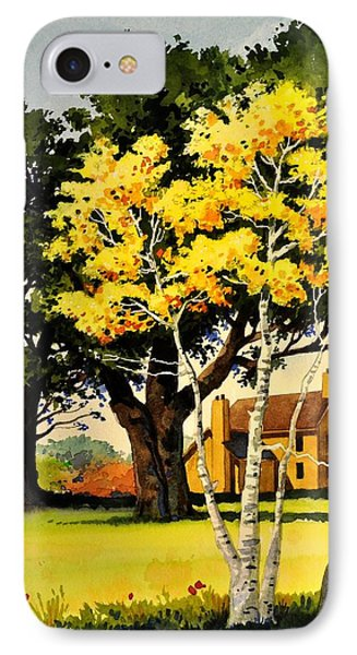 Yellow Birches IPhone Case