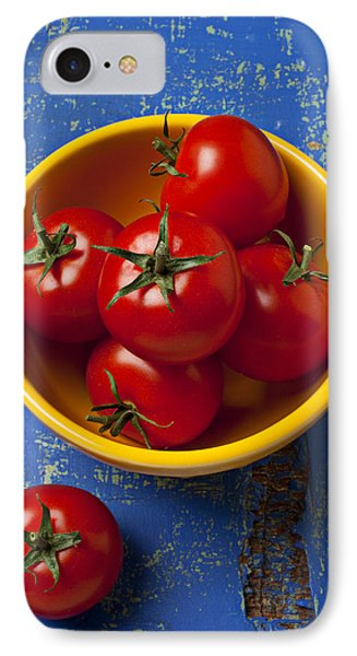 Yellow Bowl Of Tomatoes  IPhone Case