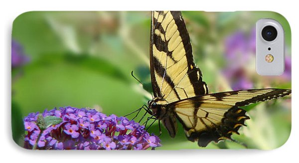 Yellow Butterfly On Purple IPhone Case