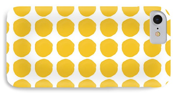 Mustard iPhone 8 Case - Yellow Circles- Art By Linda Woods by Linda Woods