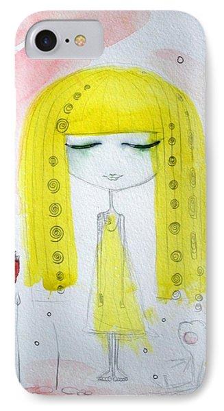 Yellow Hair Girl  IPhone Case