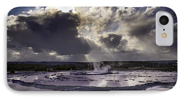 Yellowstone Geysers And Hot Springs IPhone Case