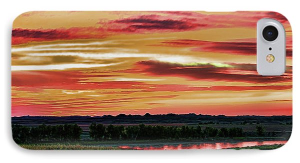 Yellowstone River Wildfire Sunset IPhone Case