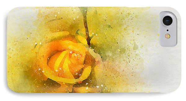 Yelow Rose IPhone Case