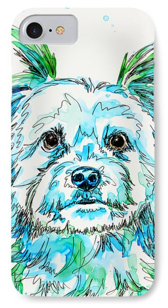 Yorkie In Green IPhone Case