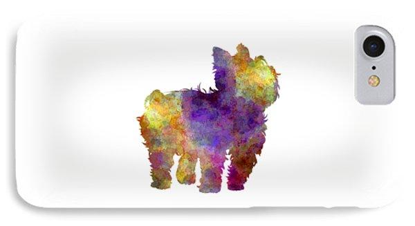 Yorkshire Terrier In Watercolor IPhone Case