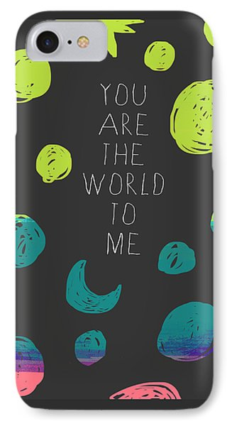IPhone Case featuring the painting You Are The World by Lisa Weedn