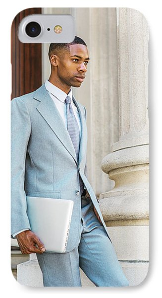Young African American Businessman Working In New York IPhone Case