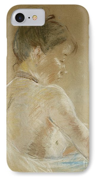 Young Girl With Naked Shoulders IPhone Case