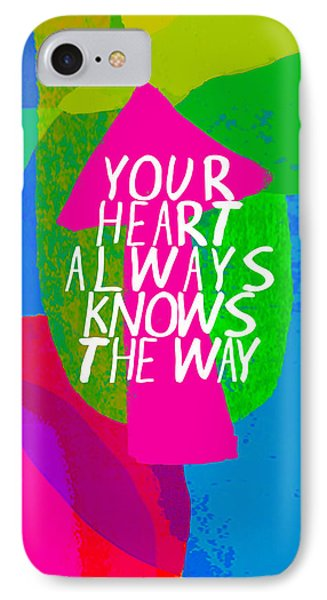 IPhone Case featuring the painting Your Heart Always Knows The Way by Lisa Weedn