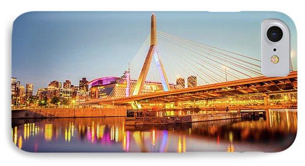 Zakim Bunker Hill Bridge At Night Boston Photo IPhone Case