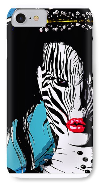 Zebra Girl Pop Art IPhone Case