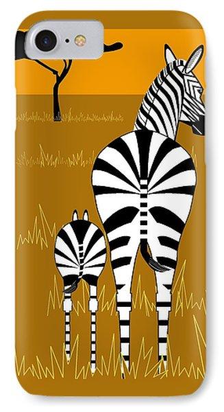 Zebra Mare With Baby IPhone Case