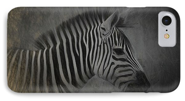 Zebra Portrait Photo Sketch IPhone Case