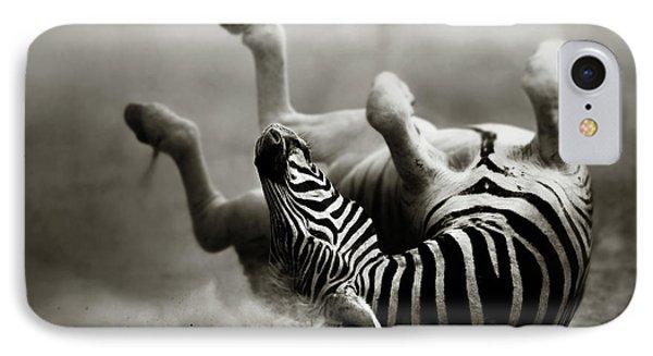 Africa iPhone 8 Case - Zebra Rolling by Johan Swanepoel