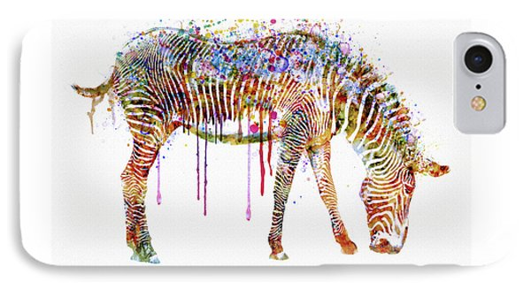Zebra Watercolor Painting IPhone Case