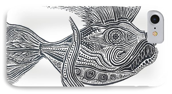 Zentangle Fish IPhone Case