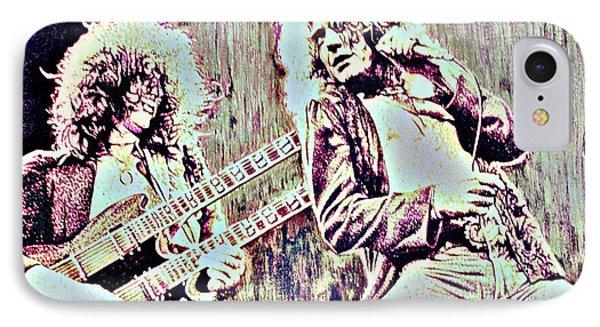Zeppelin Concert On Wood  IPhone Case