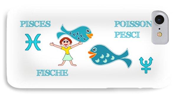 Zodiac Sign Pisces IPhone Case
