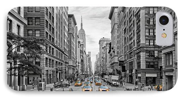 American iPhone 8 Case - 5th Avenue Nyc Traffic by Melanie Viola