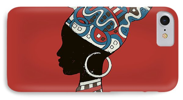 Africa iPhone 8 Case - Hand Drawn Illustration  Beautiful by Ivanchina Anna