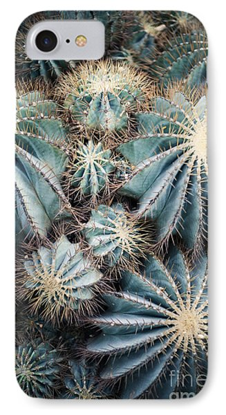 Small iPhone 8 Case - Rustic Macro Shot Of Cactus - Tropical by Naturephotography