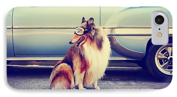 Puppies iPhone 8 Case - A Collie Posing For The Camera In Front by Annette Shaff