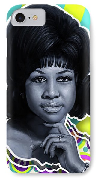 Tribute iPhone 8 Case - Aretha - Queen Of Soul by Andre Koekemoer
