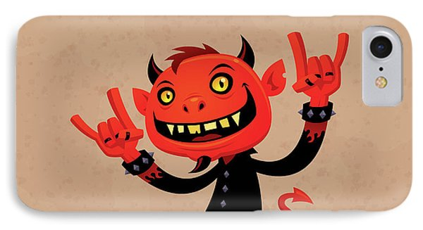 Music iPhone 8 Case - Heavy Metal Devil by John Schwegel